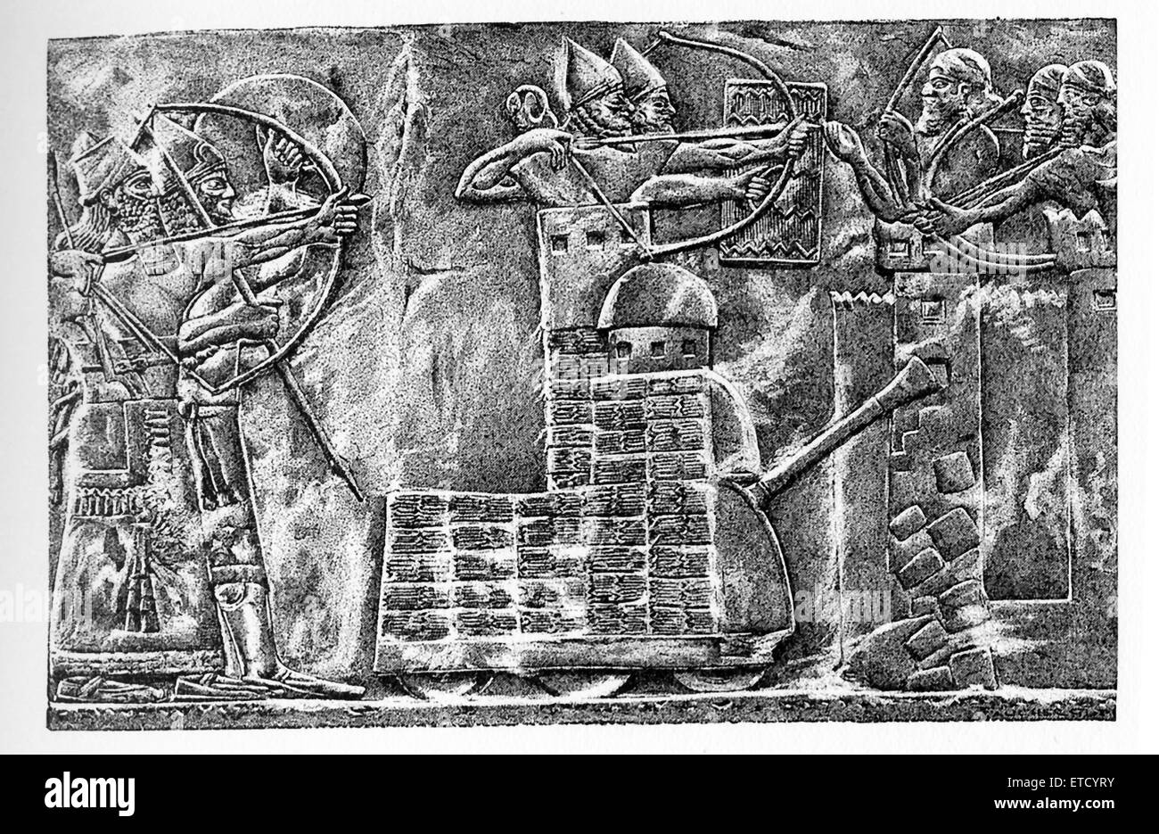 This drawing is by Henri Faucher-Gudin and accompanied the 1916 book series 'History of Egypt' by French - Stock Image