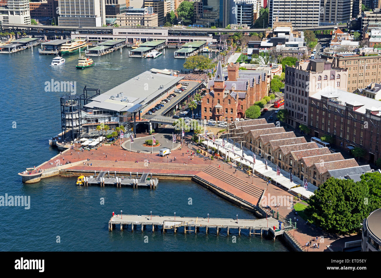 The Rocks and Circular Quay, Sydney, New South Wales, Australia - Stock Image