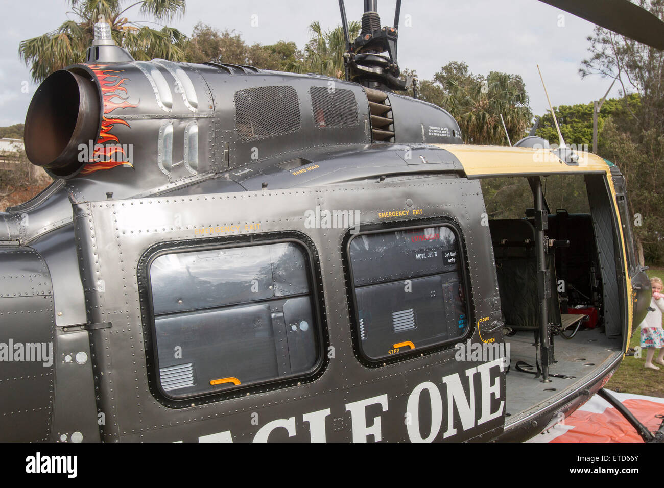 Sydney, Australia. 13th June, 2015. 10th Avalon Beach Military Tattoo featured the Bell UH-1 Iroquois which is a - Stock Image