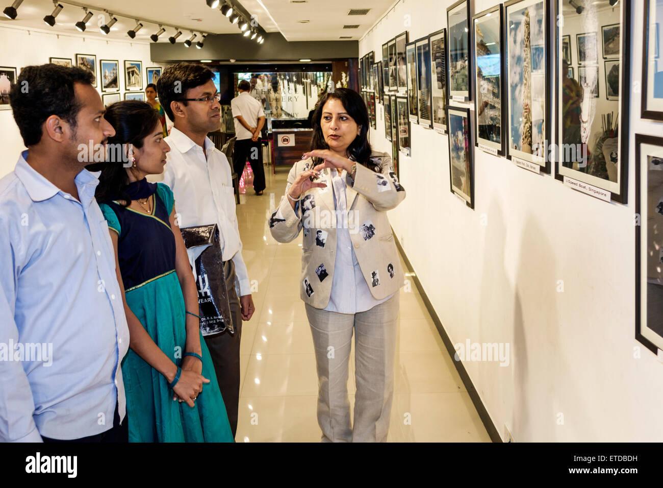 Mumbai India Indian Asian Fort Mumbai Kala Ghoda Jehangir Art Gallery contemporary photography by Sangita Joshi - Stock Image