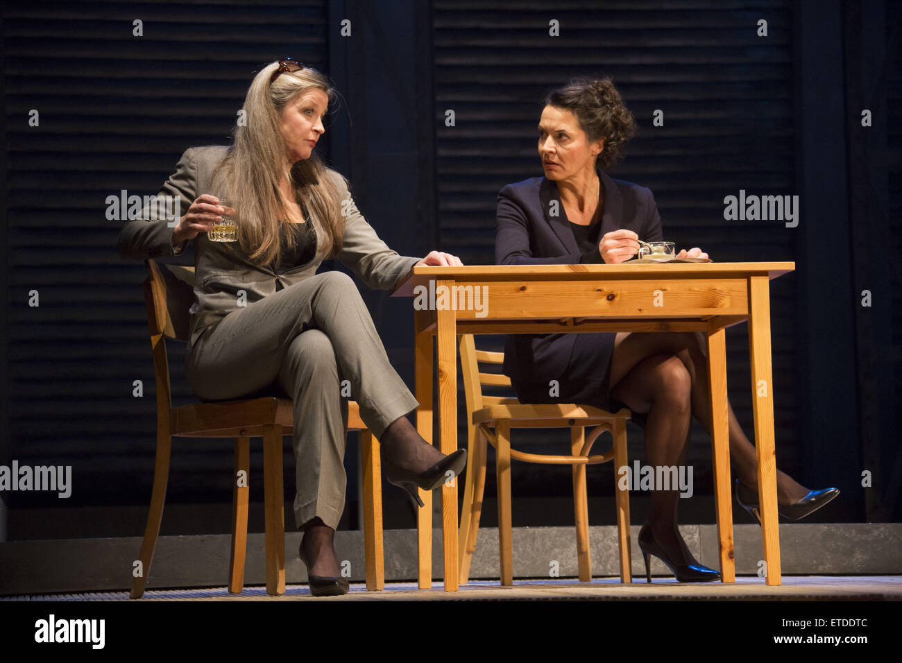 Rehearsel for the theatre play 'Chuzpe' at Hamburger Kammerspiele  Featuring: Meike Harten, Ulrike Folkerts - Stock Image