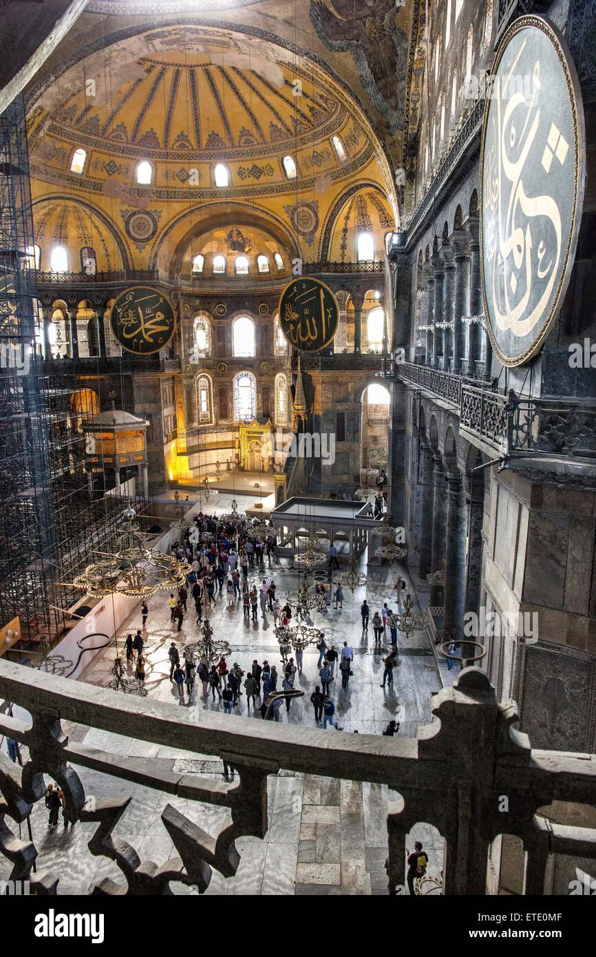 Hagia Sophia is a former Greek Orthodox patriarchal basilica, later an imperial mosque, and now a museum in Istanbul, Stock Photo