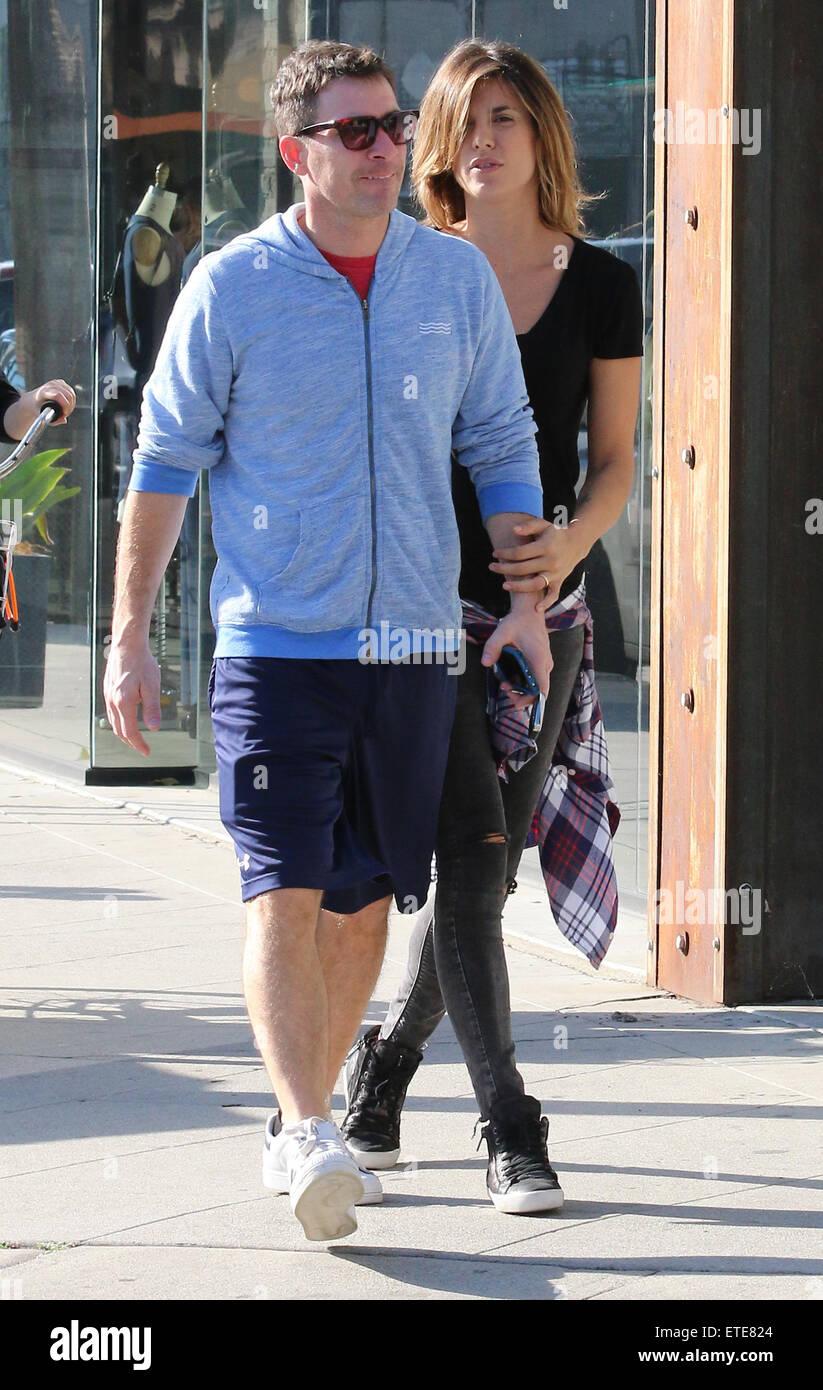 Elisabetta Canalis and husband Brian Perri leave Urth Cafe