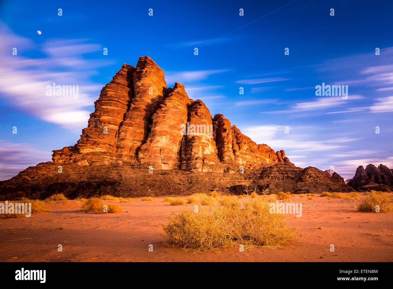 Scenic view of Wadi Rum desert, Jordan Stock Photo