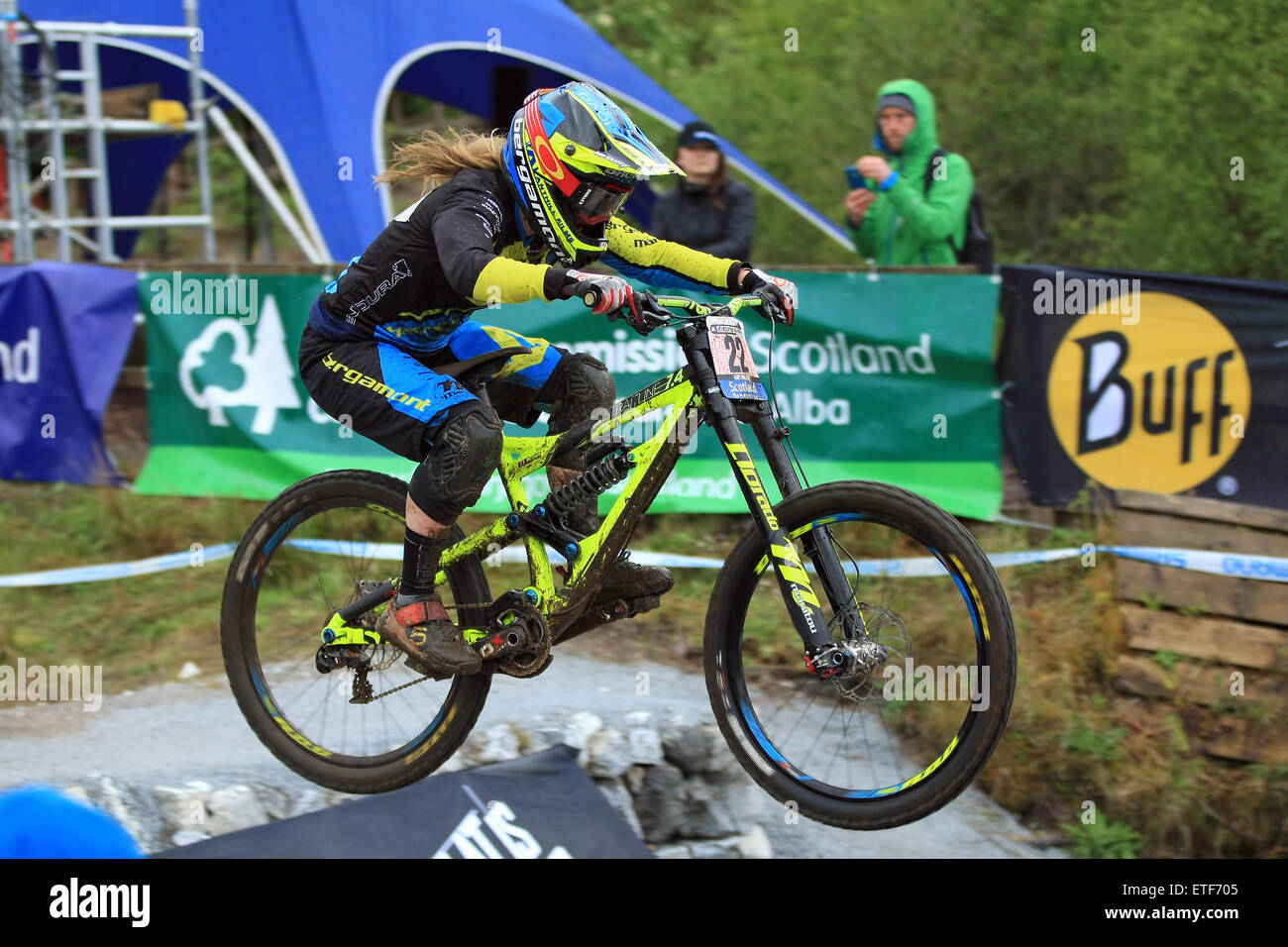 Casey Brown, Bergamont Hayes UCI Mountain Bike World Cup at Fort William, Scotland on 6-7th June 2015 - Stock Image