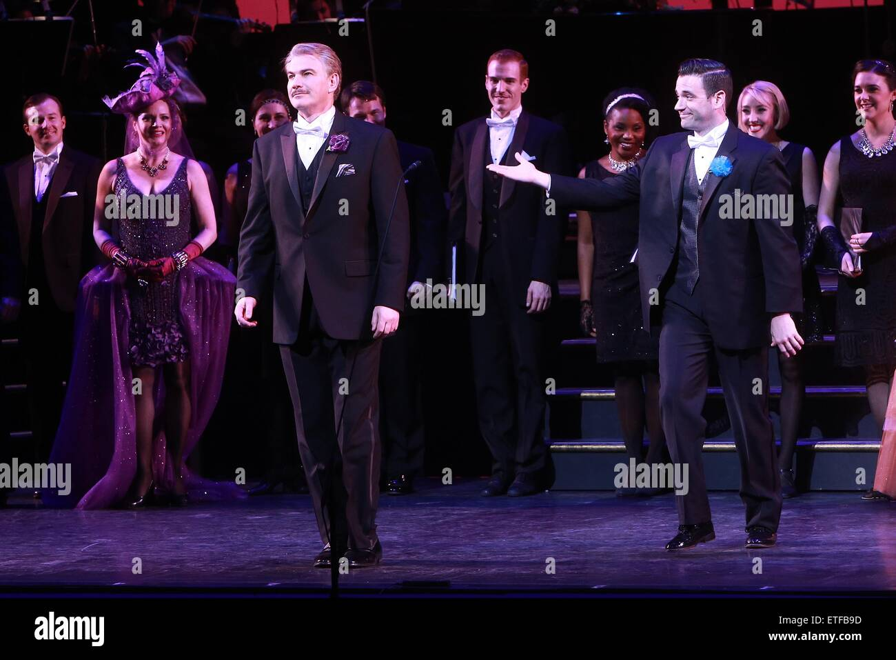 Closing night curtain call for Encores! production of Lady Be Good at NY City Center.  Featuring: Douglas Sills, - Stock Image