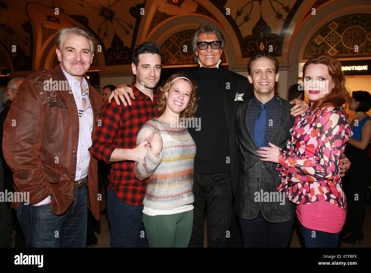 Closing night party for Encores! production of Lady Be Good at NY City Center.  Featuring: Douglas Sills, Colin - Stock Image