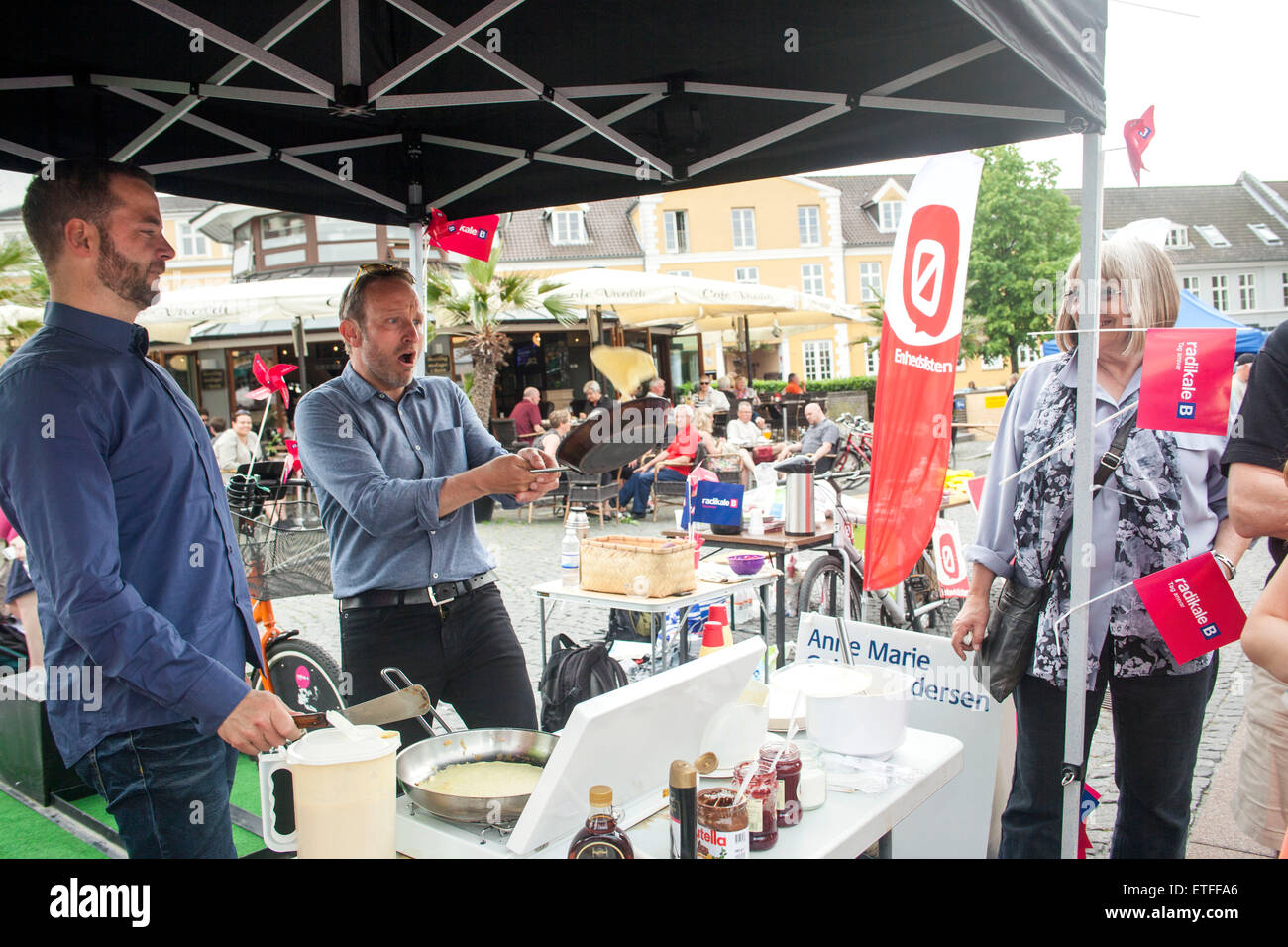 Hilleroed, Denmark, June 13th, 2015: Danish Morten Ostergaard (Deputy PM) (L) and Martin Lidegaard (Foreign Minister), - Stock Image