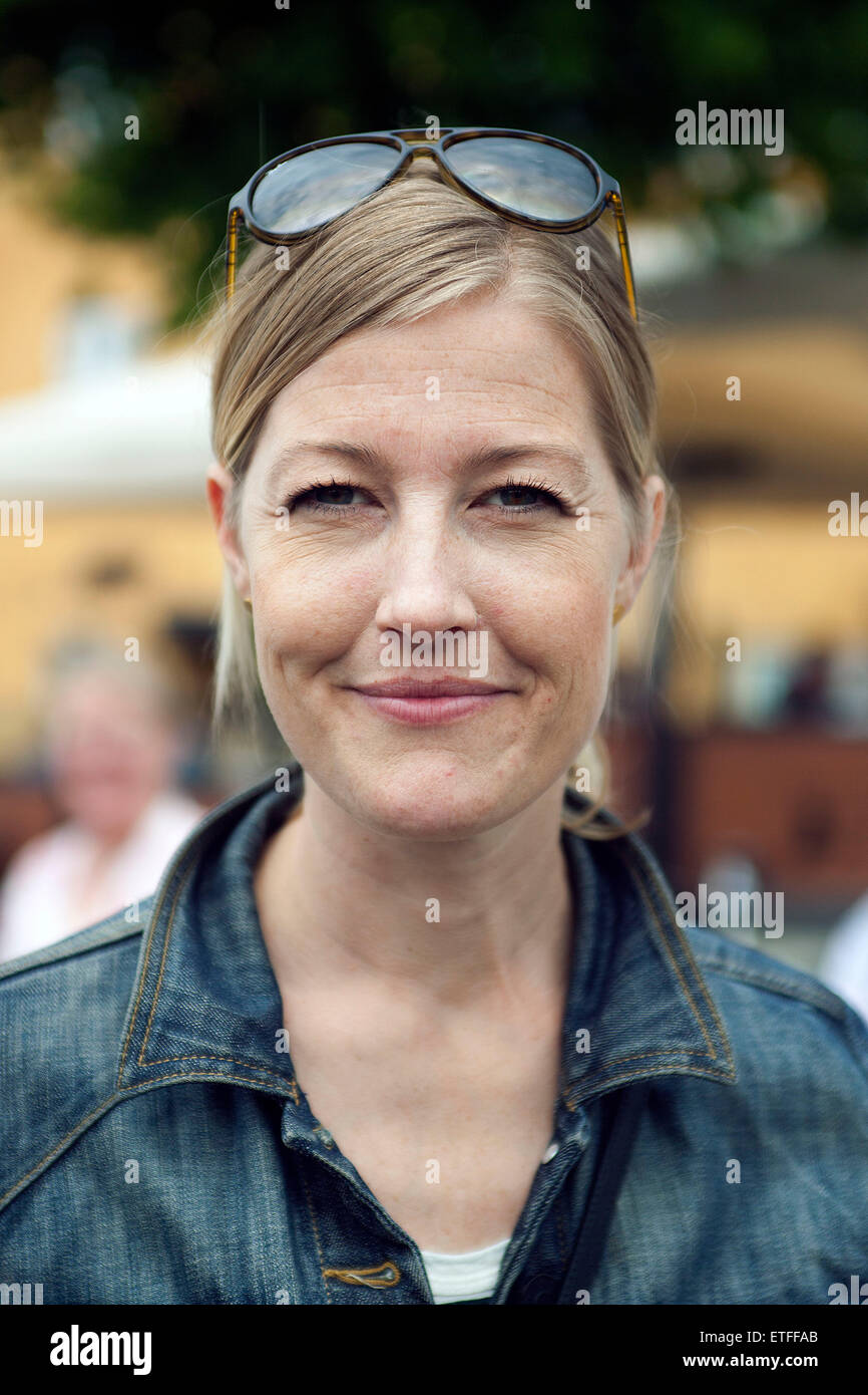 Hilleroed, Denmark, June 13th, 2015: Danish Minister for Research and Education, Sofie Carsten Nielsen (Radikal - Stock Image
