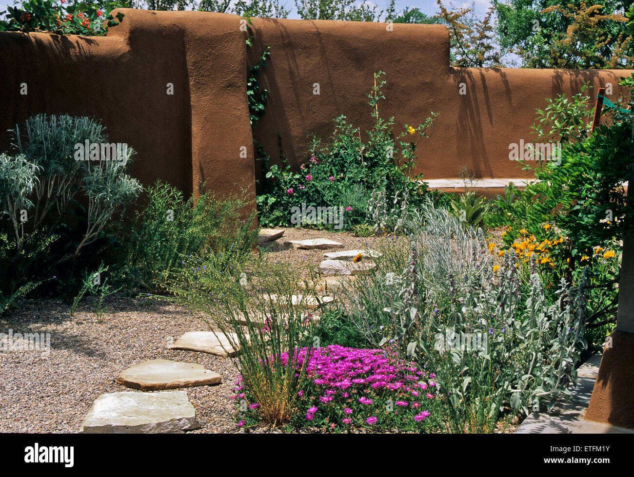 The Gardens Of Santa Fe New Mexico Offer A Constant Supply Of Stock Photo Alamy