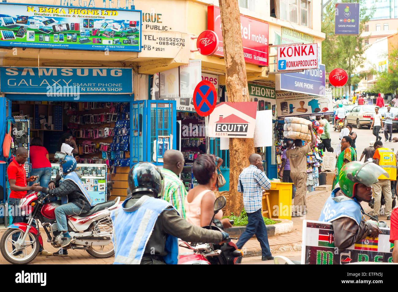 Street scene, KN 2 Street, 'Central Ville', CBD, Kigali, Rwanda - Stock Image