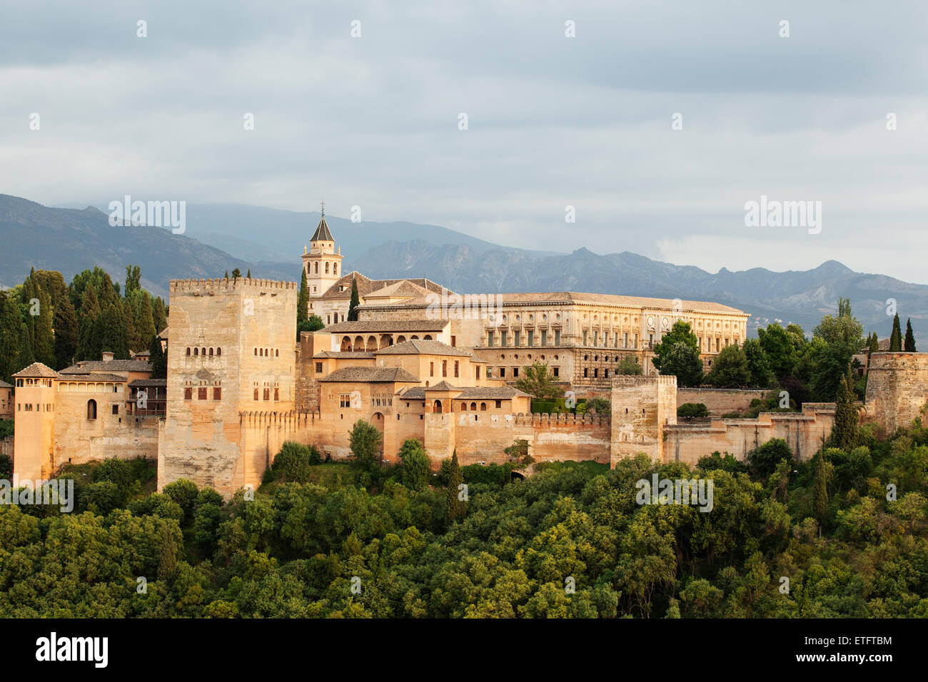 The Alhambra, Granada - Moorish palace Andalucia, Spain - Stock Image