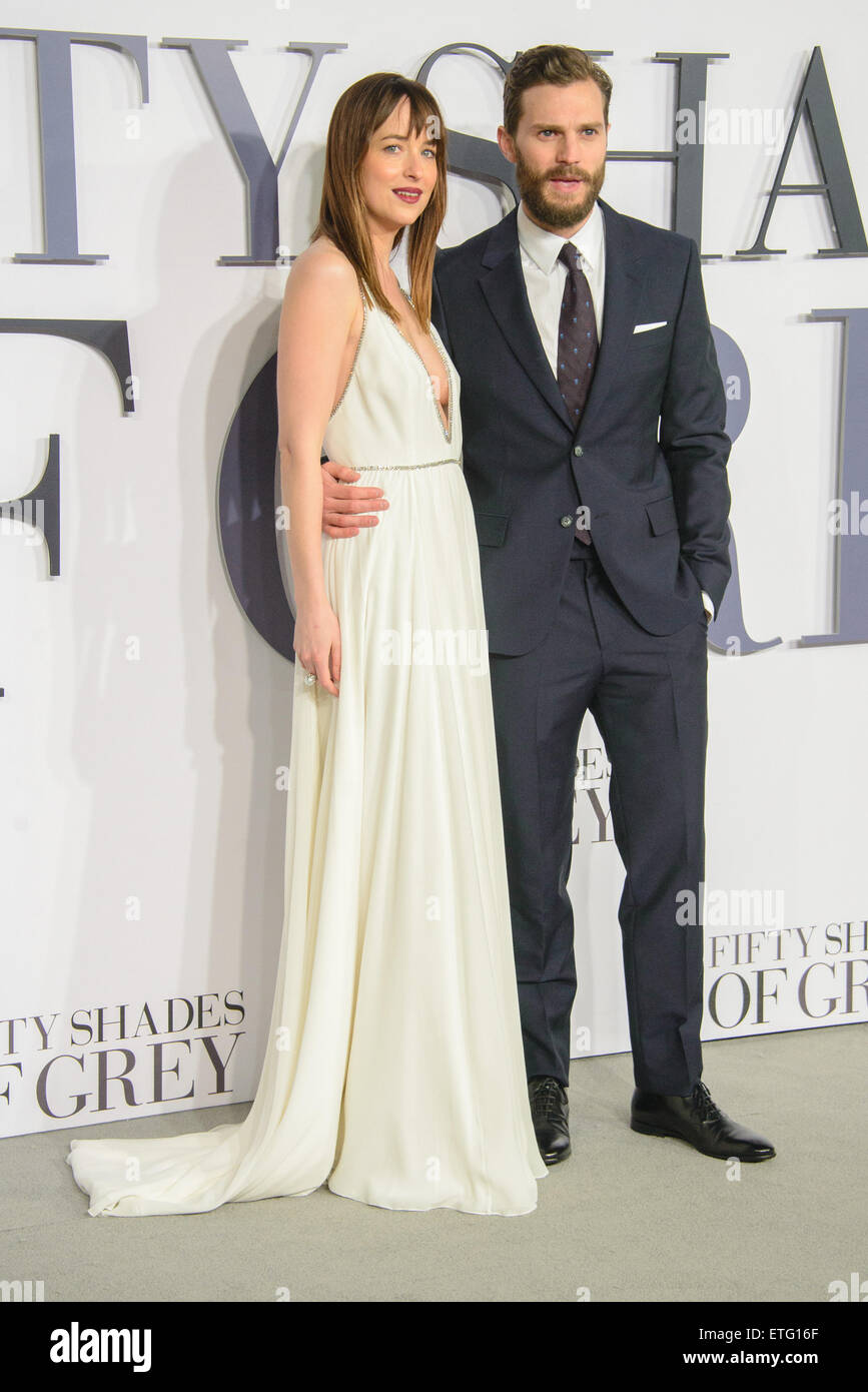 Fifty Shades Of Grey Uk Premiere At The Odeon Leicester Square Stock Photo Alamy