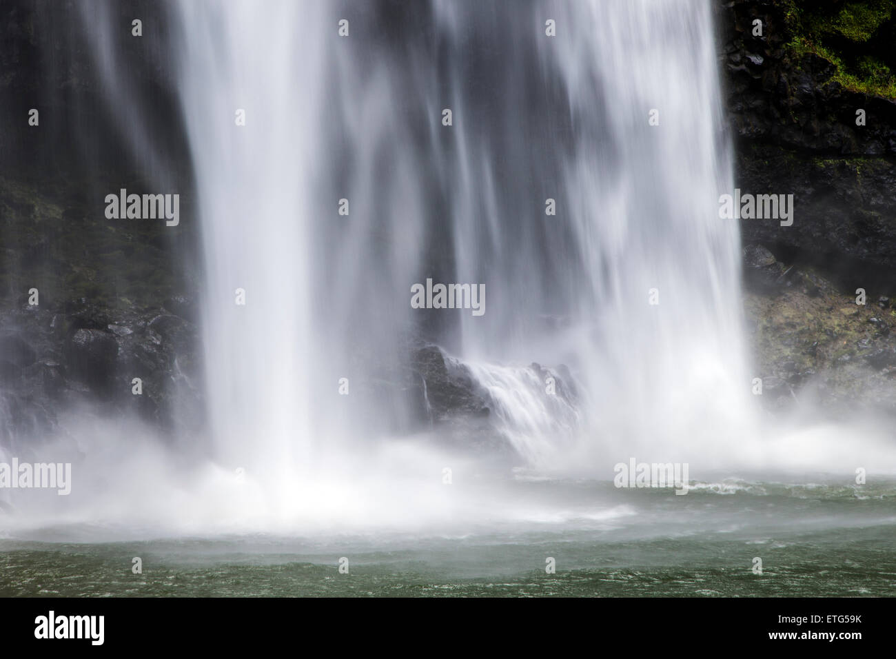 Wailua Falls, Kauai, Hawaii, USA - Stock Image