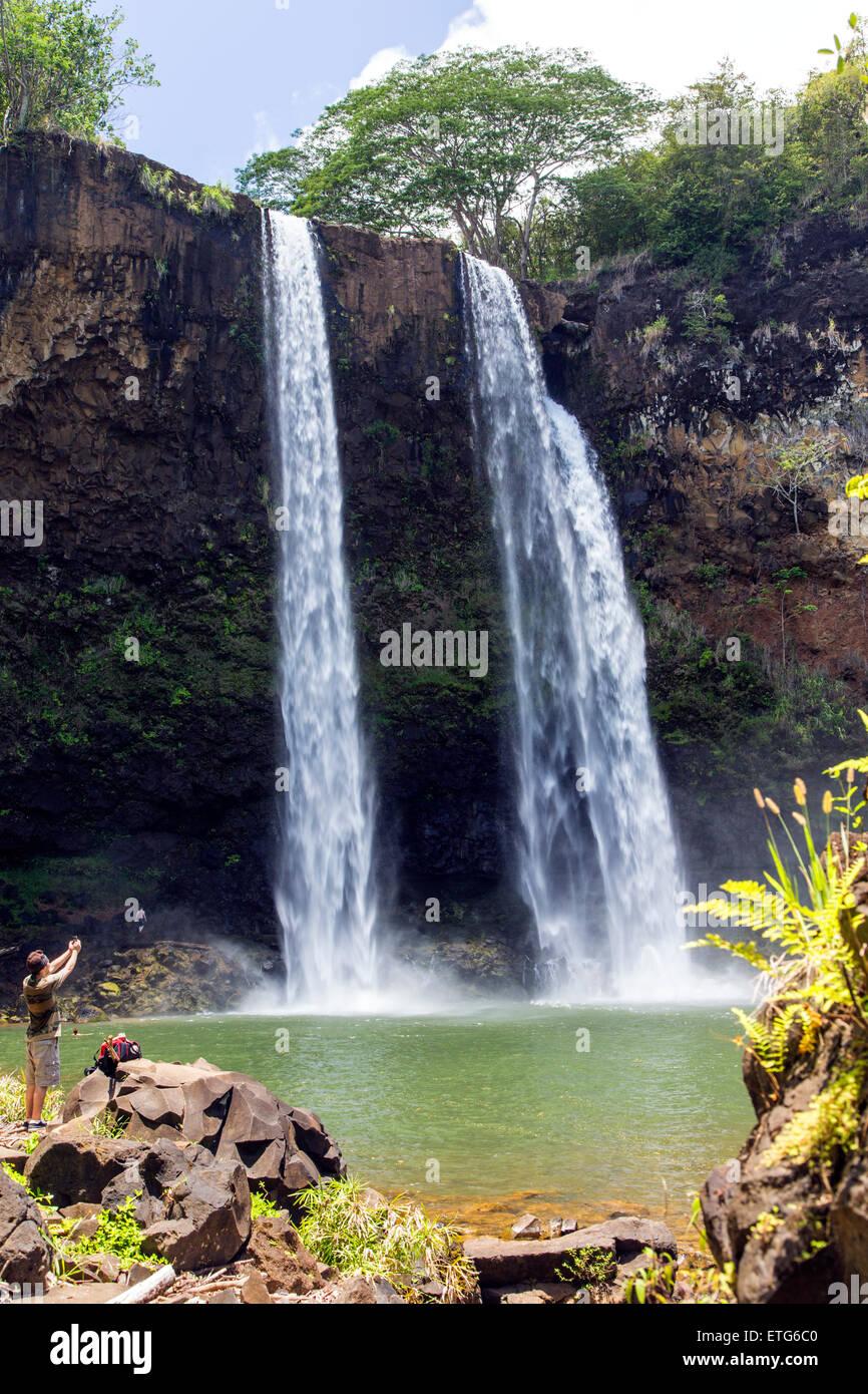 Wailua Falls Kauai Stock Photos & Wailua Falls Kauai Stock