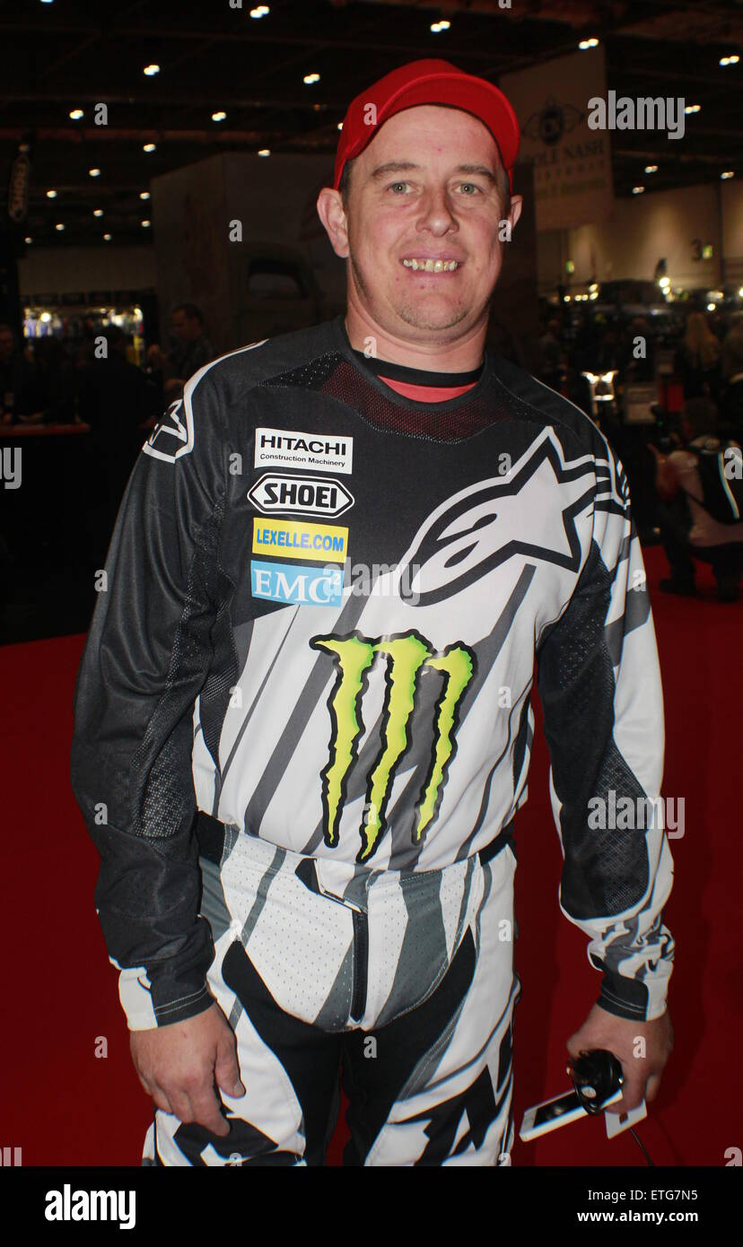 MCN London Motorcycle Show at Excel London  Featuring: John McGuinness Where: London, United Kingdom When: 13 Feb - Stock Image