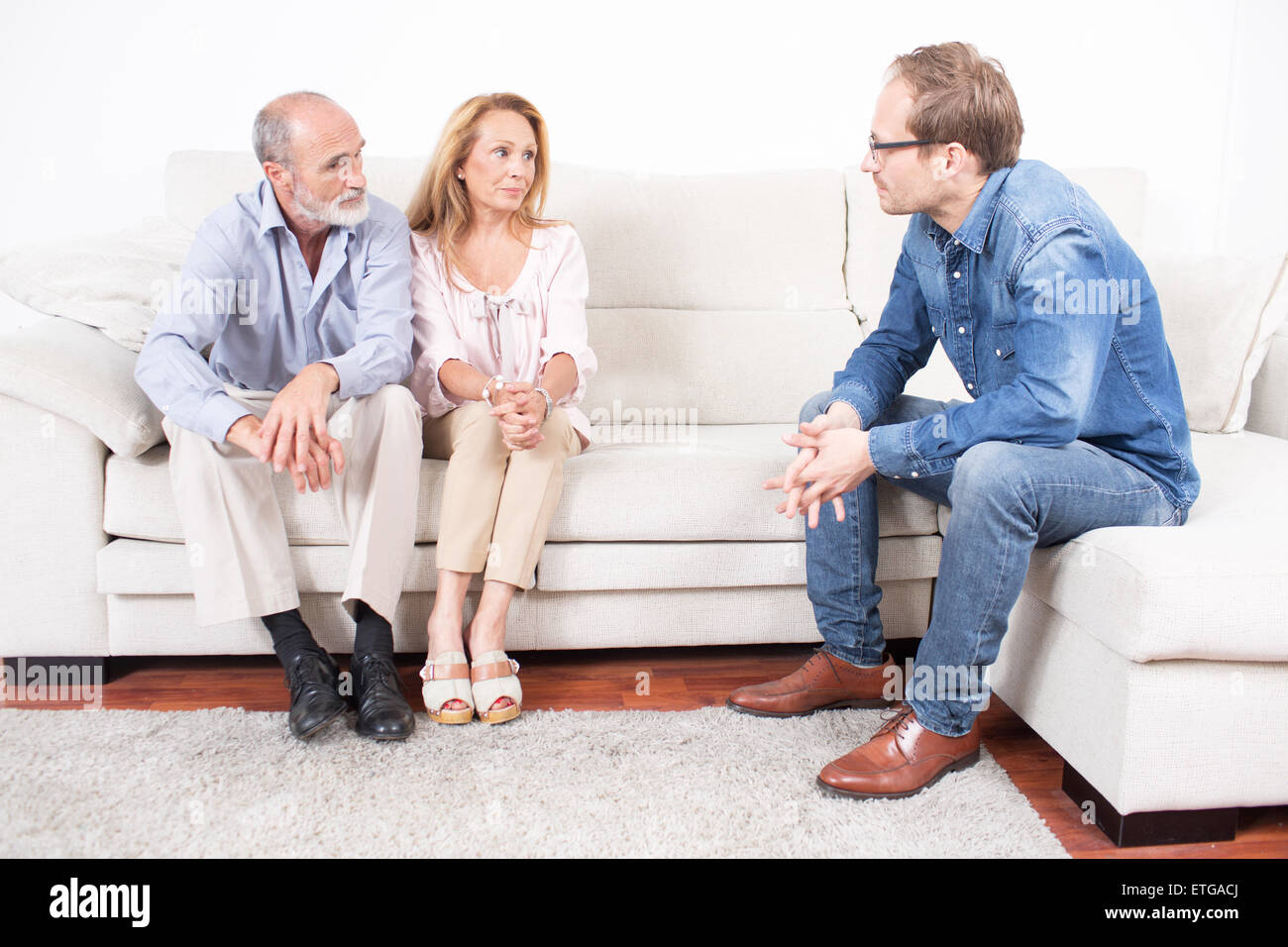 Couples therapy at a psychologist - Stock Image