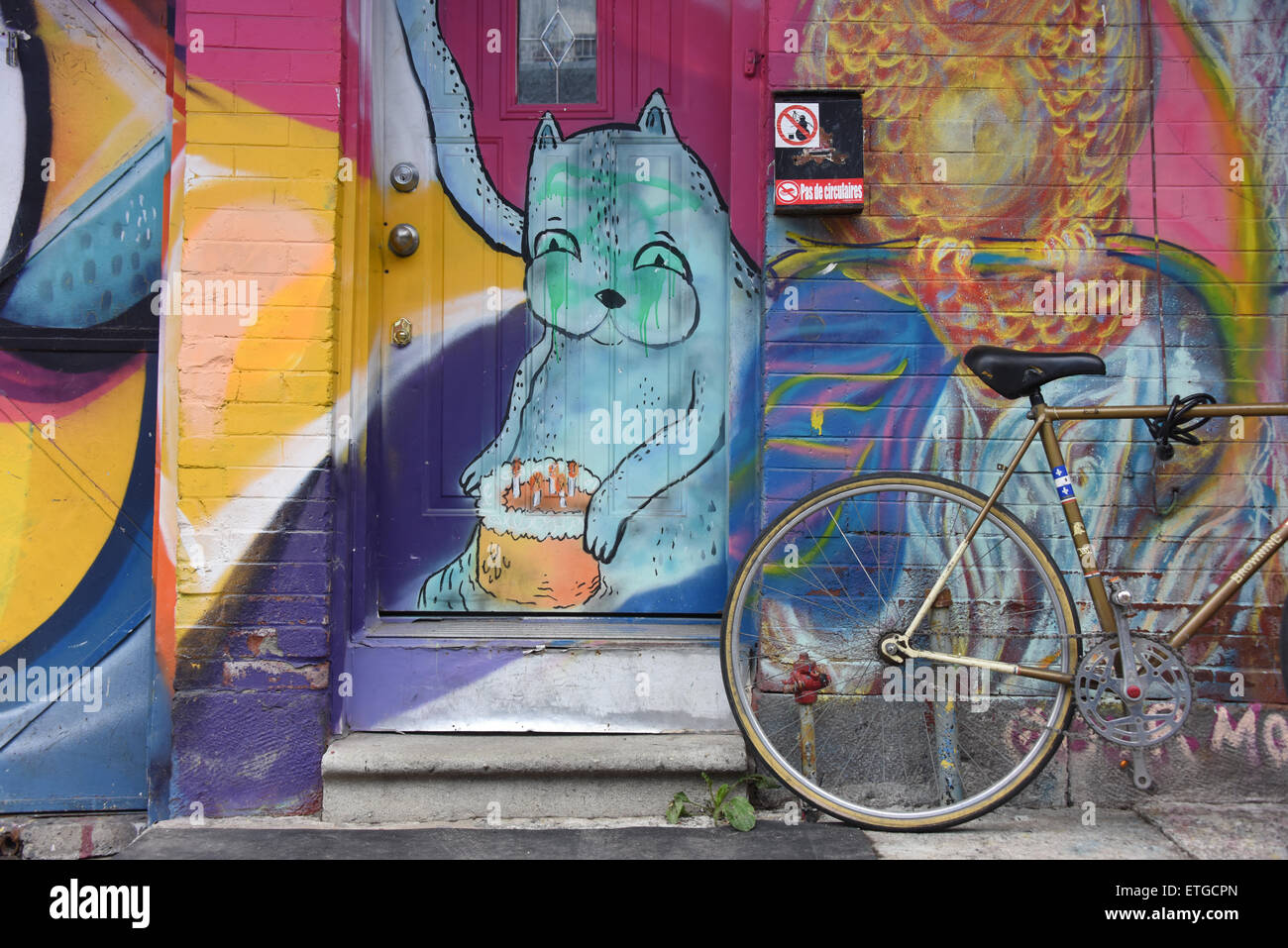 Typical scene Plateau Mont Royal Montreal, Canada. - Stock Image