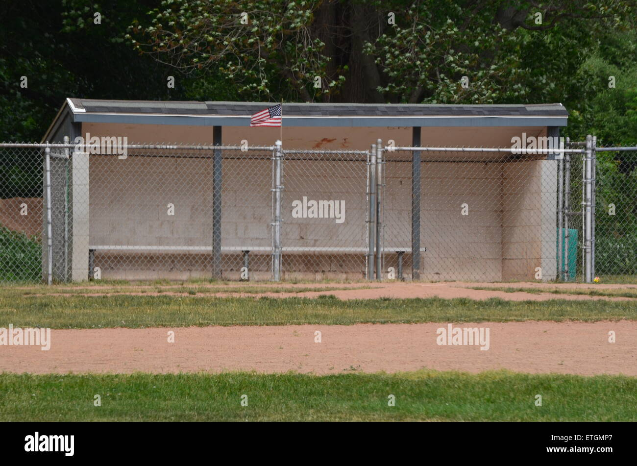 Baseball Dugout Stock Photo 83960751 Alamy