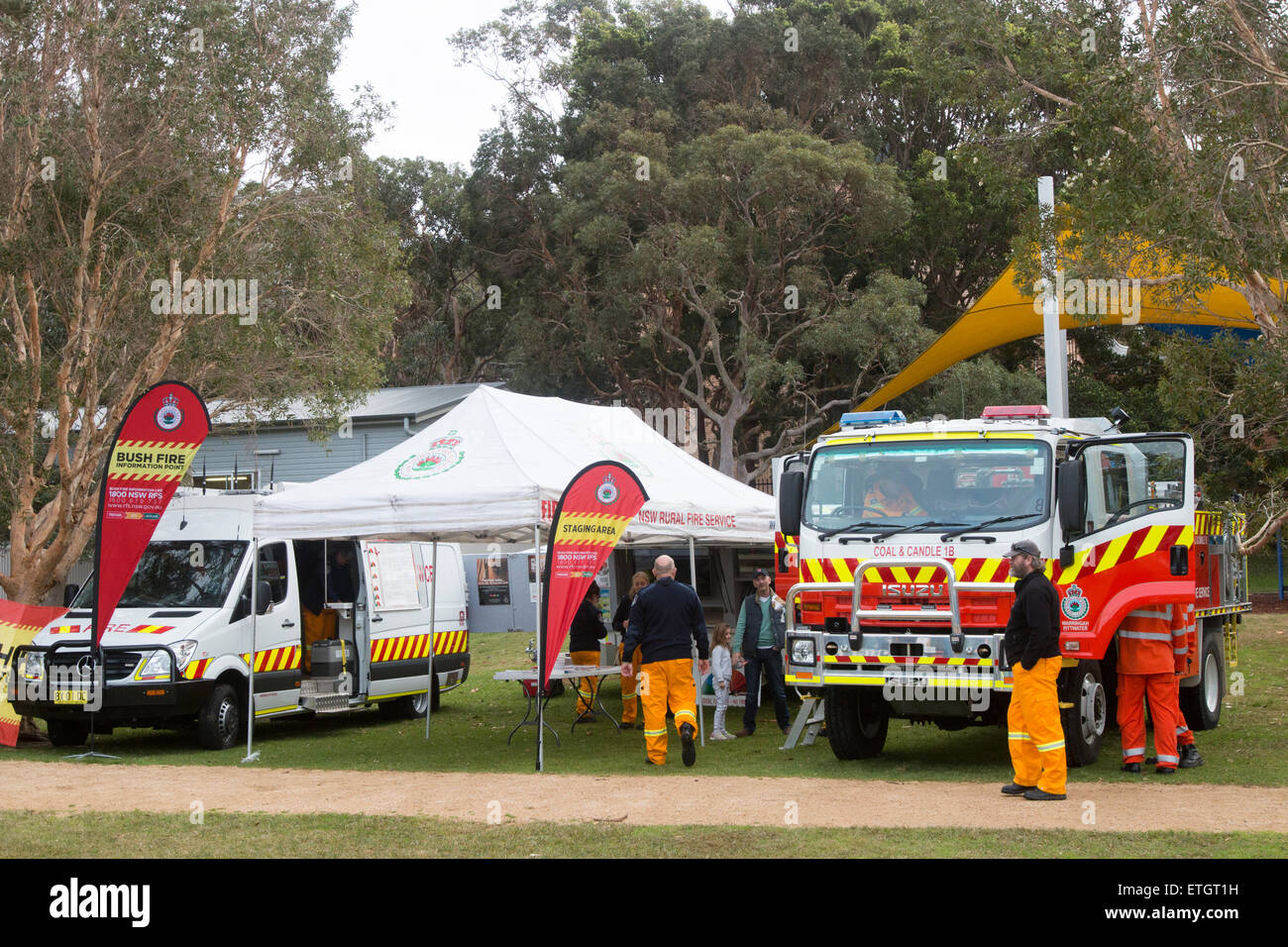 New South Wales NSW rural volunteer firefighters and their