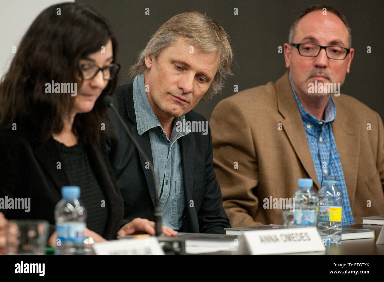 Viggo Mortensen attends the presentation for the book 'Sons of the Forest' in Barcelona. The book by Bossert - Stock Image