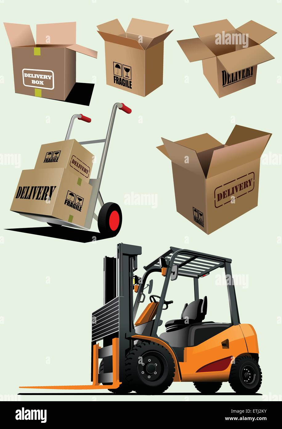 Delivery equipment collection. Vector illustration for designers - Stock Vector