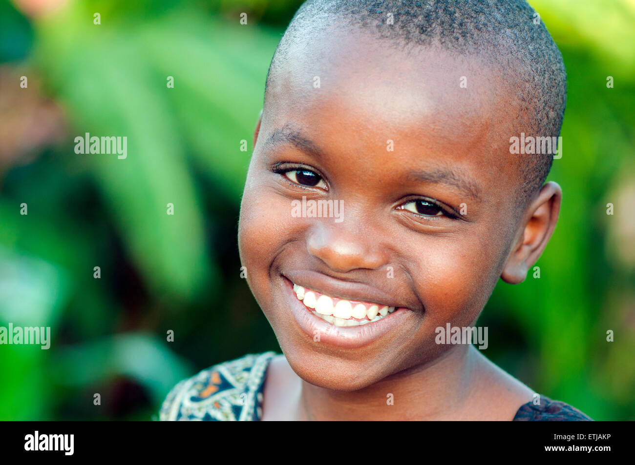 Young girl in southeastern suburb, Kigali, Rwanda - Stock Image