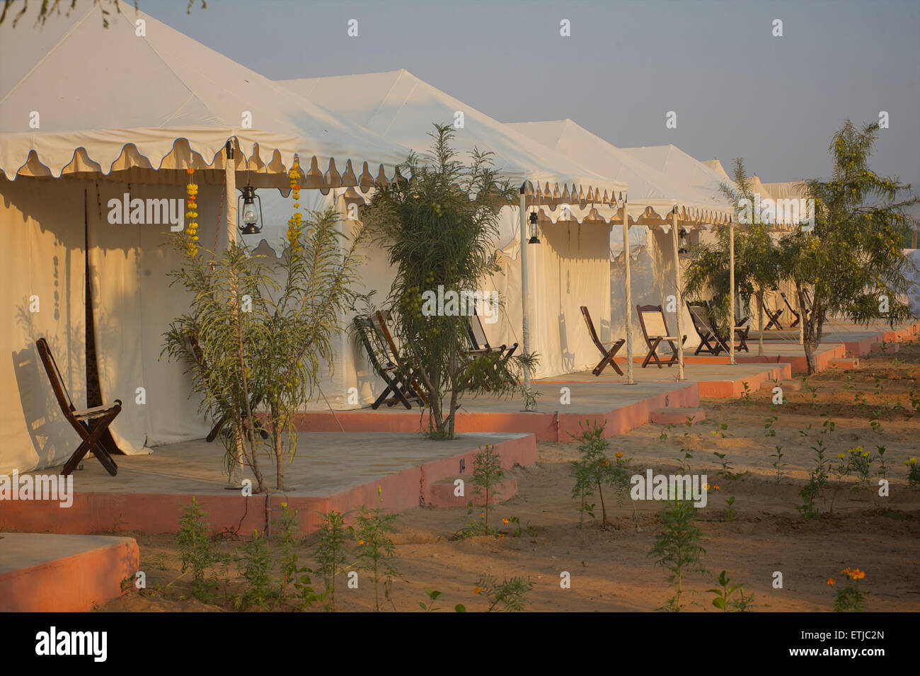Royal Heritage Camp, Pushkar, Rajasthan, India - Stock Image