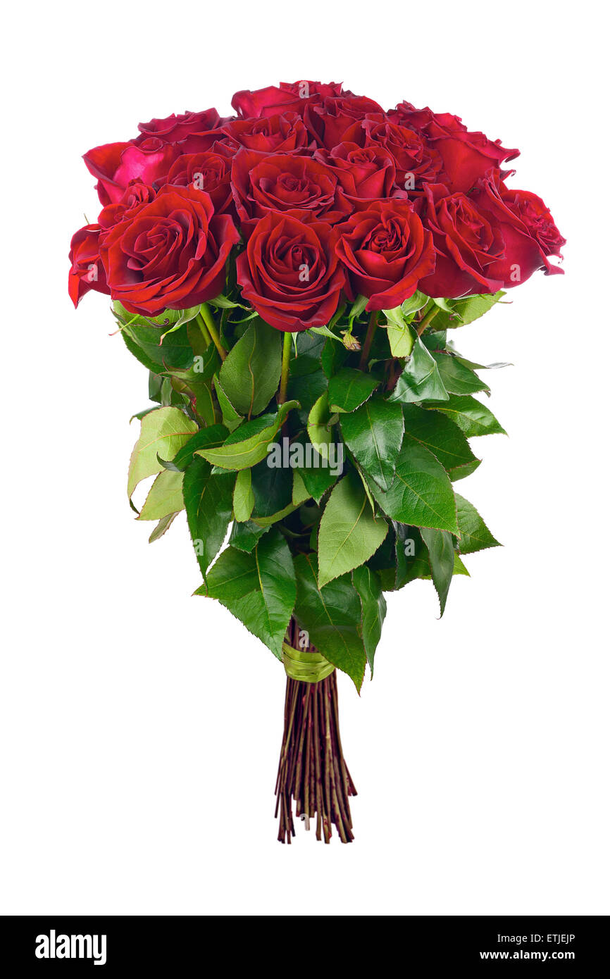 Colorful flower bouquet from red roses. Closeup Stock Photo ...