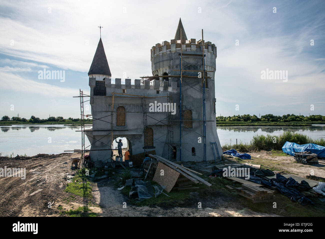 (150614) -- NEW ORLEANS, June 14, 2015 (Xinhua) -- Photo taken on June 10, 2015 shows the Fisherman's Castle - Stock Image