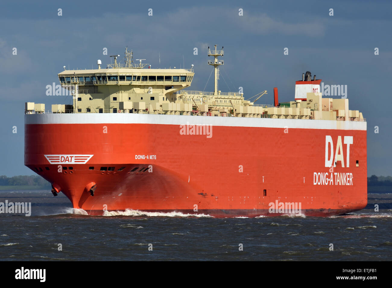 CarCarrier Dong-A Metis off Cuxhaven - Stock Image