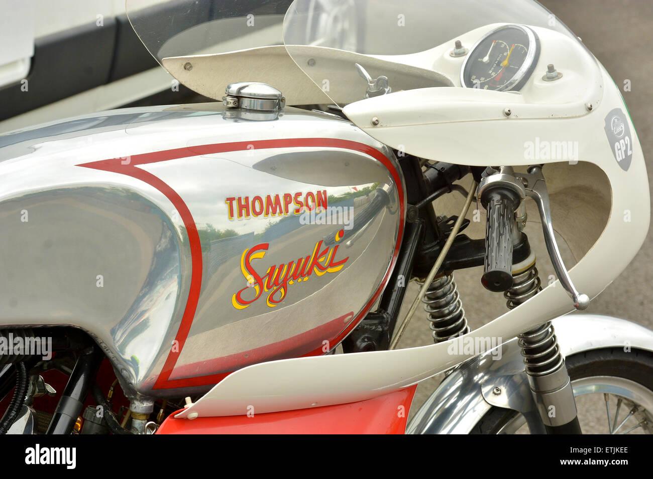Historic motor-bike racing. Classic Racing Motorcycle Club CRMC - Classic Bike Race Meeting.. Croft Circuit Darlington - Stock Image