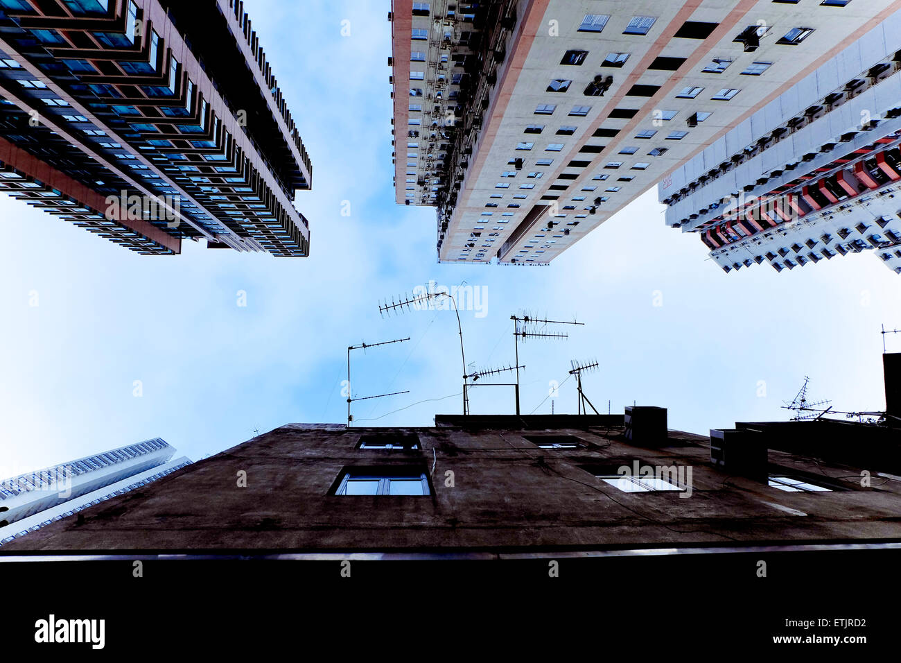 street view in Hong kong - Stock Image
