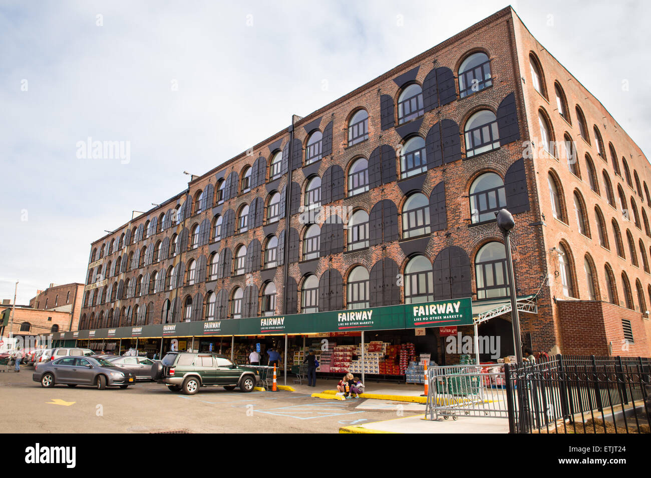 Red Hook, Brooklyn, New York City - June 6, 2015:  Landmark Fairway supermarket seen in Red Hook Brooklyn - Stock Image