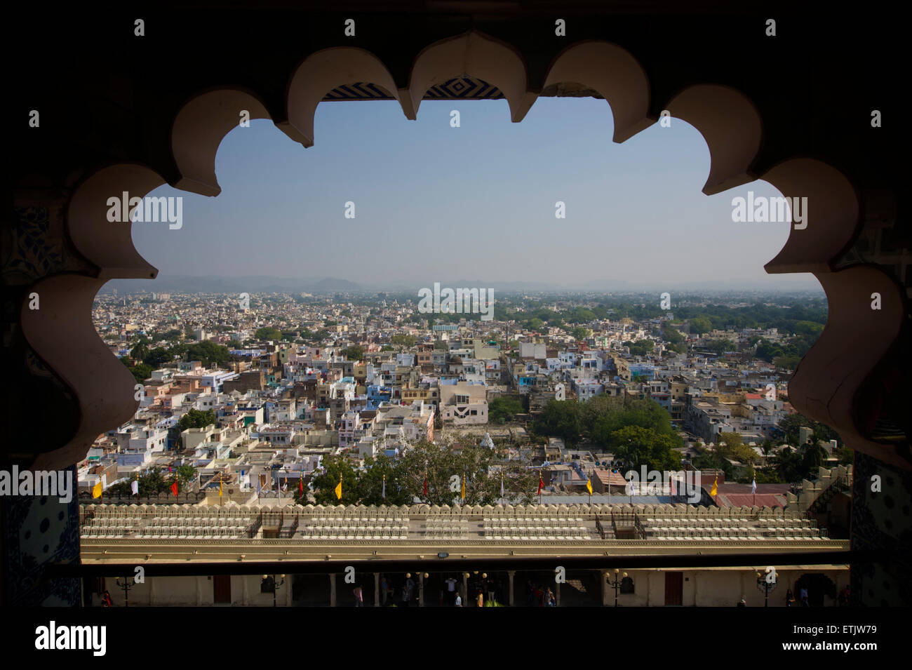 View from the City Palace of Udaipur, Rajasthan, India - Stock Image