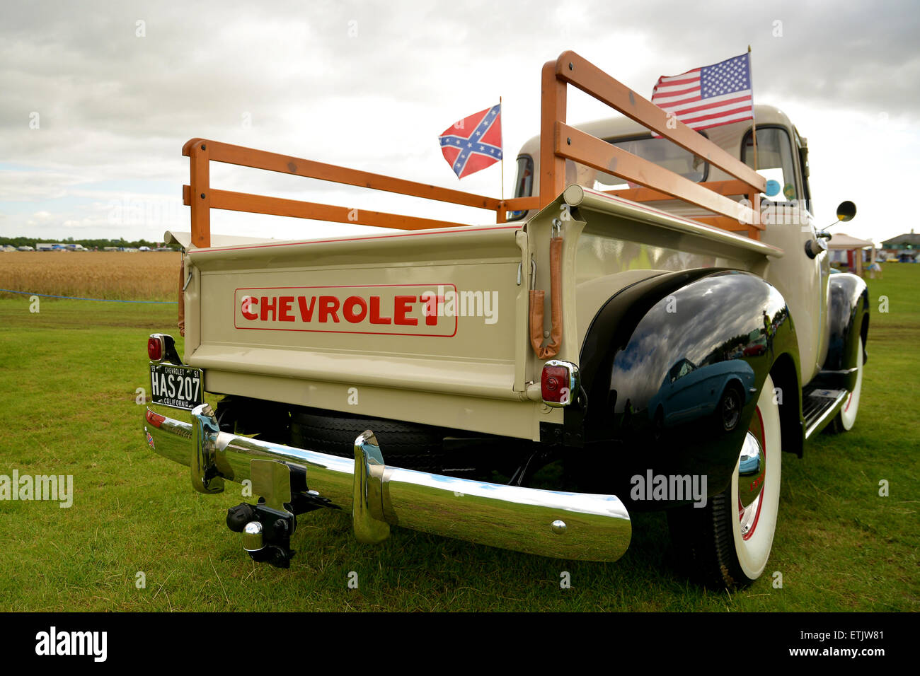 Classic pre-war American Chevrolet truck - Chevy Vintage American Pick Up Truck USA - Nostalgia Festival at the - Stock Image