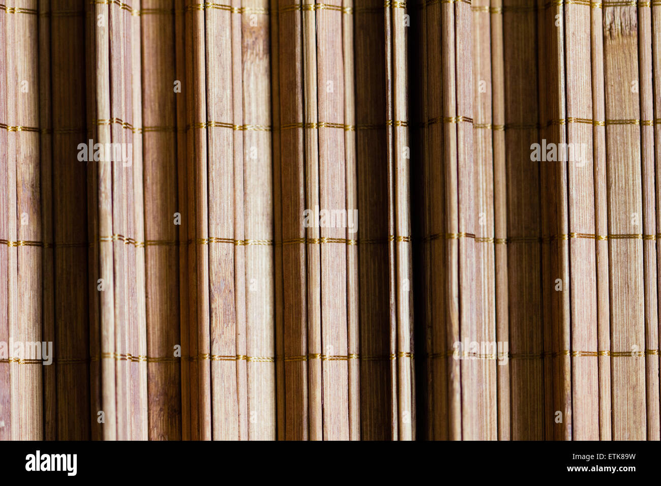 Bamboo mat background pleated. Abstract - Stock Image