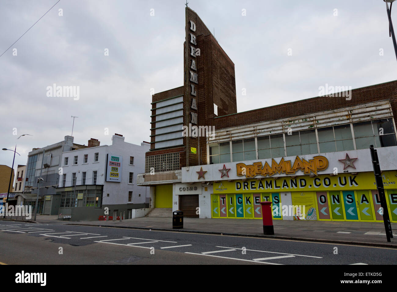 Margate seafronts Dreamland complex - Stock Image