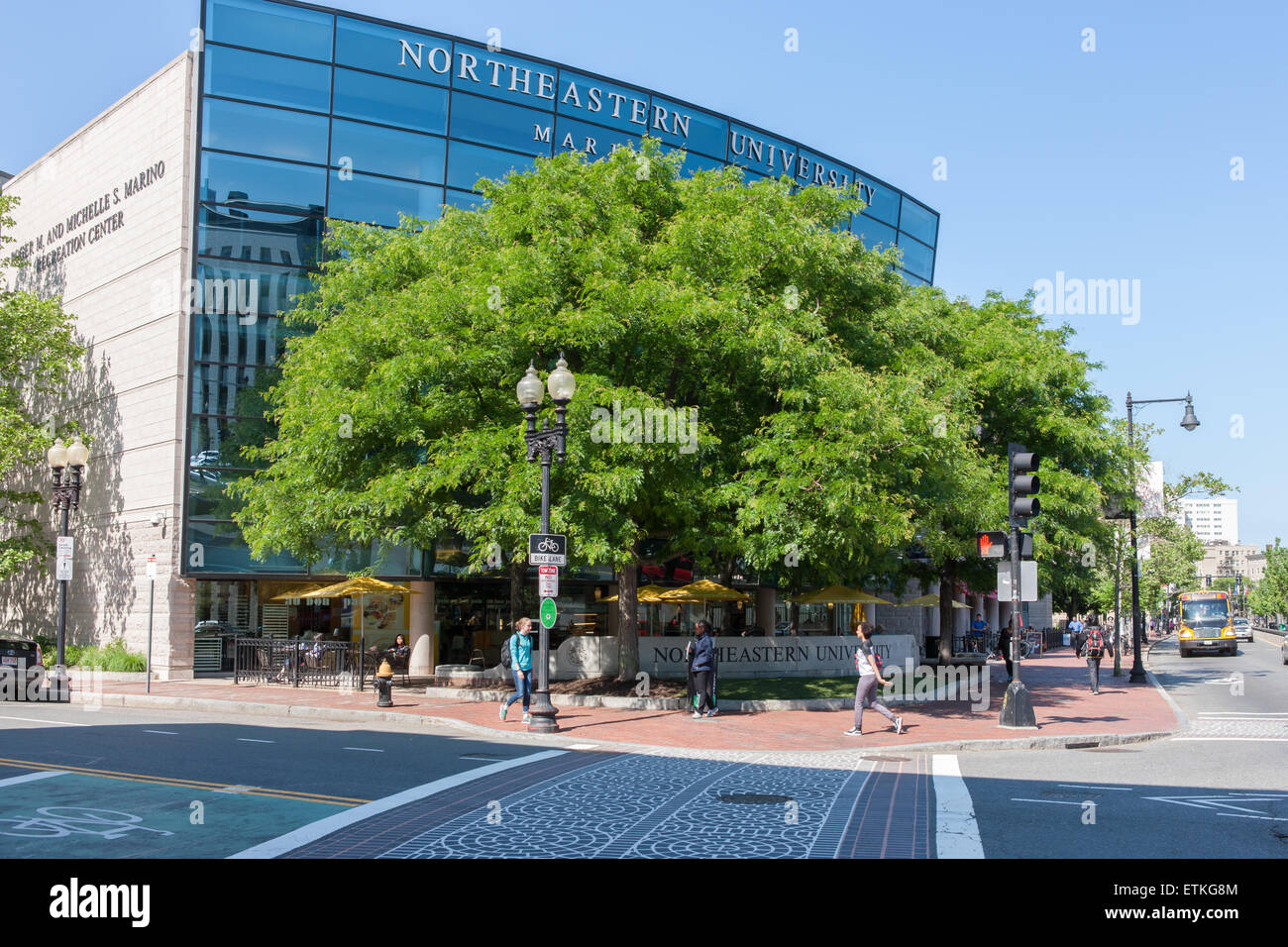 Northeastern University Marino Recreation Center on Huntington Avenue in Boston, Massachusetts. - Stock Image