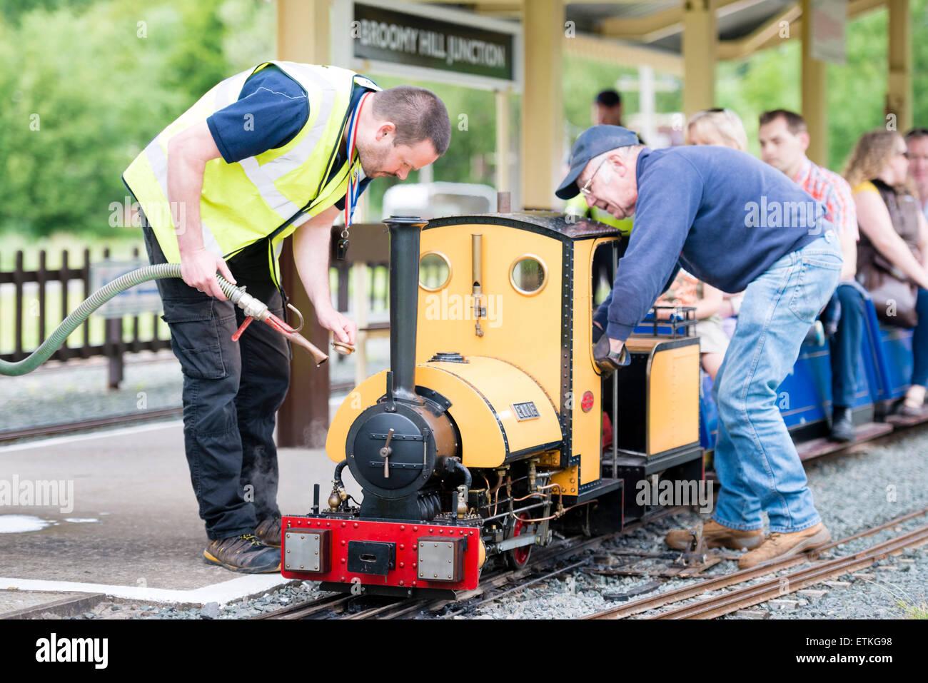 Hereford Society of Model Engineers 5' gauge miniature steam railway. - Stock Image
