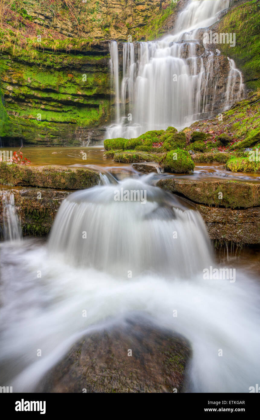 Scalebar Force waterfalls just outside Settle in Yorkshire - Stock Image