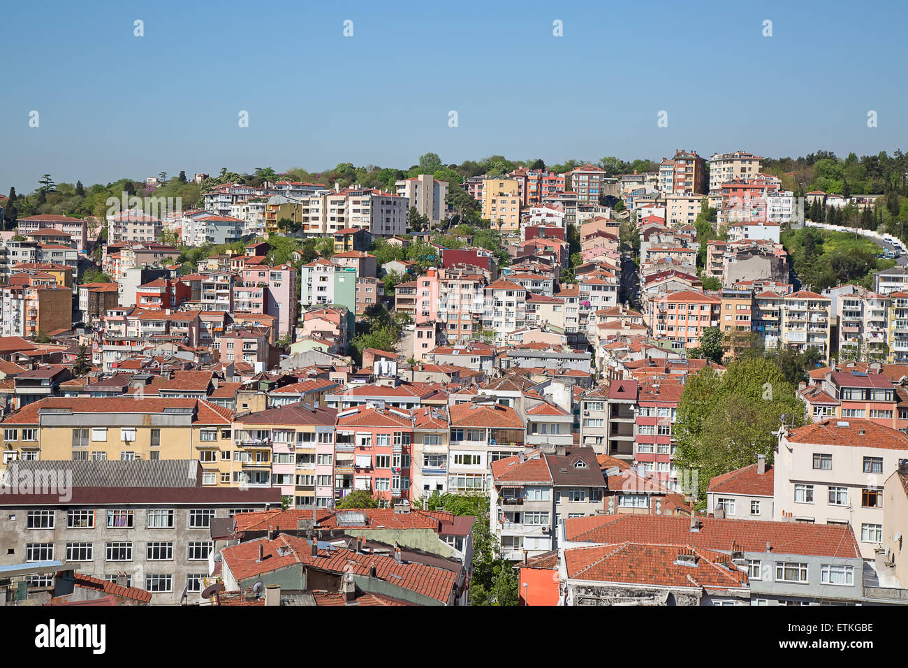 View of the modern Istanbul city Stock Photo