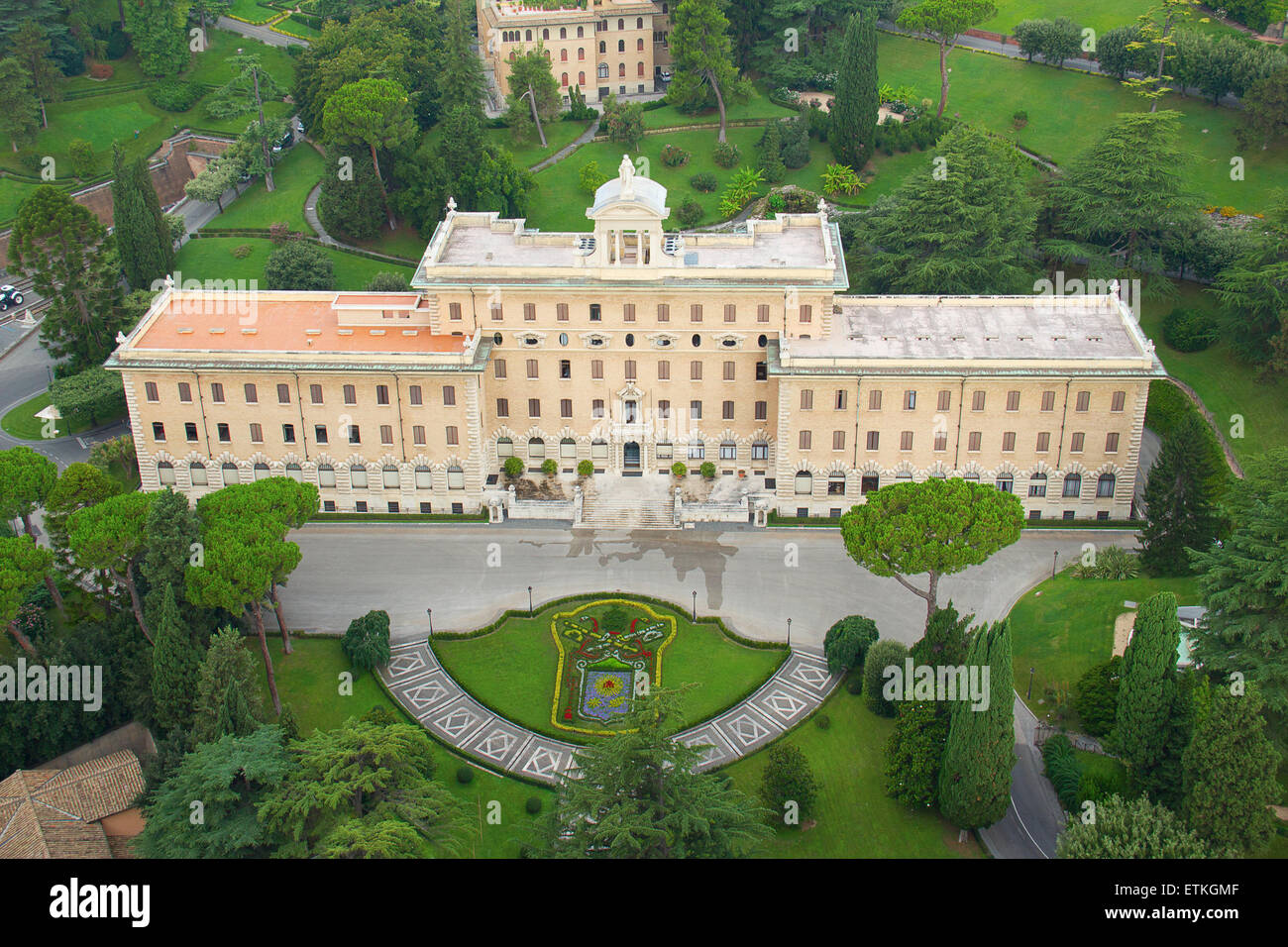 Residence Of The Pope In Vatican  Rome Stock Photo
