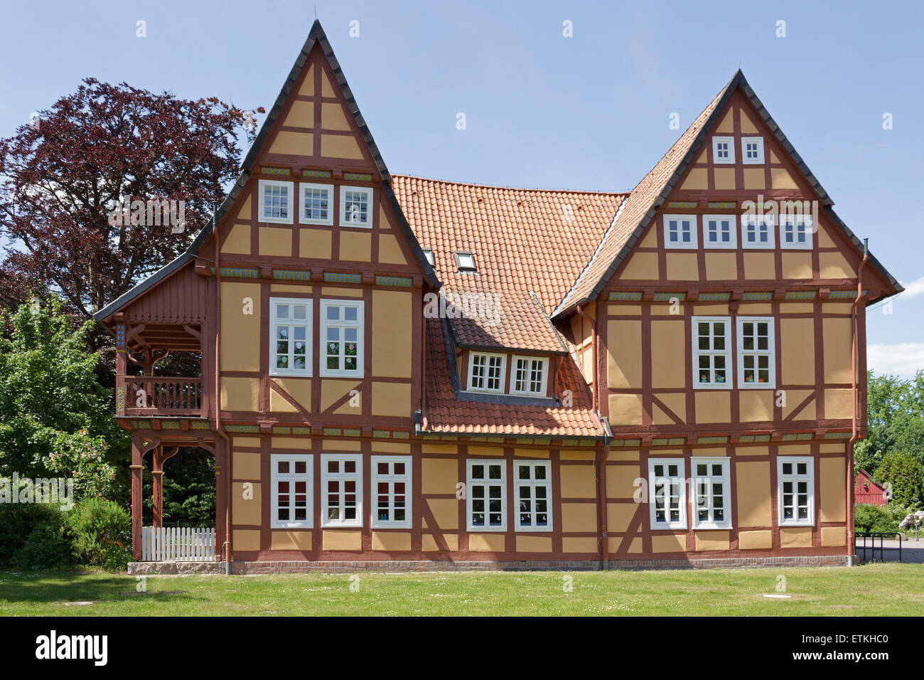 Celle French Garden Half Timbered House Stock Photos & Celle French ...