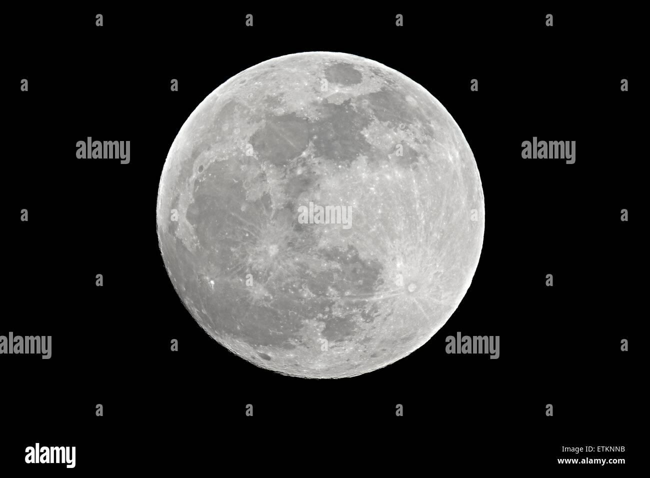 Full moon closeup - Stock Image