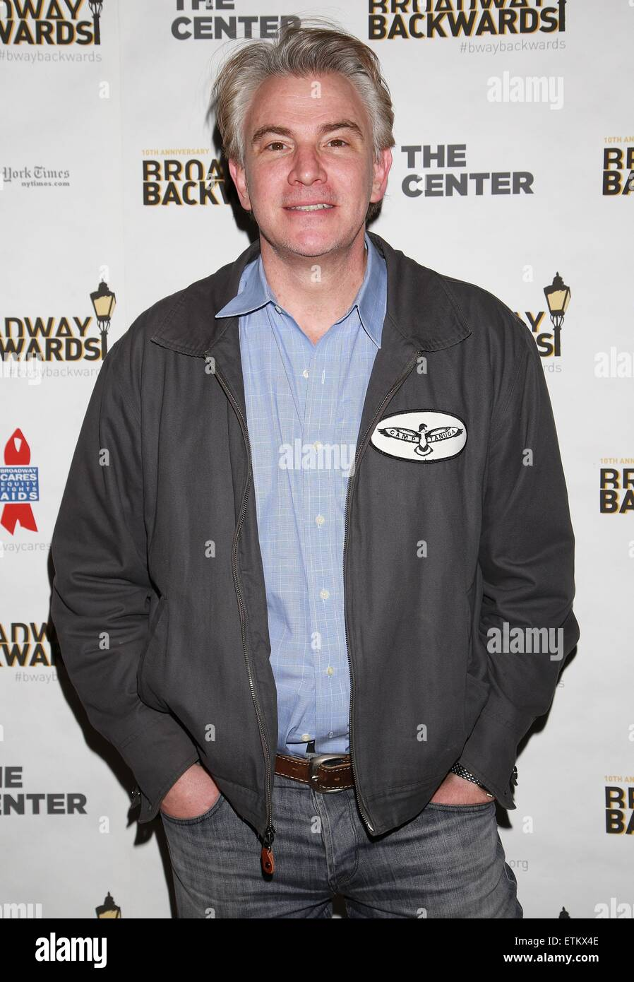 After party for 10th Annual Broadway Backwards held at John's Pizzeria - Arrivals.  Featuring: Douglas Sills - Stock Image