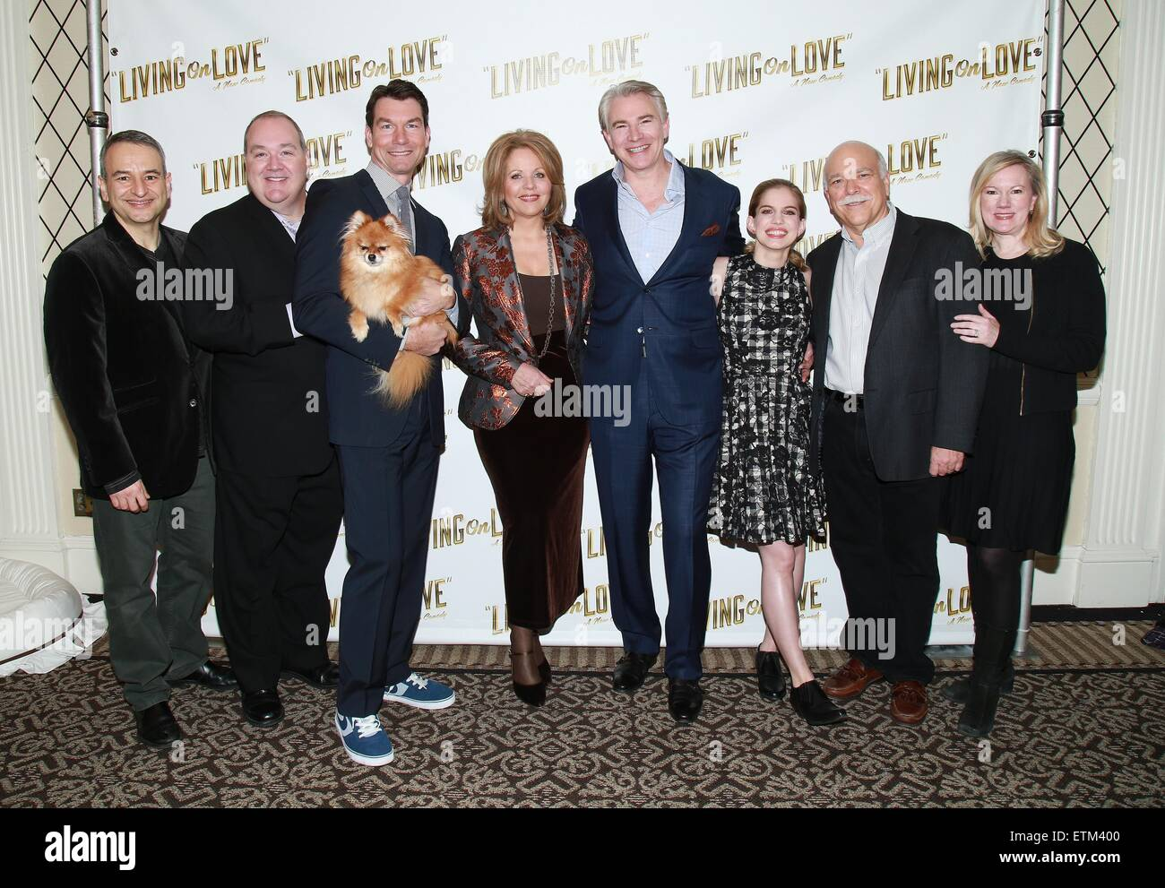 Press junket for Broadway play Living On Love held at the Empire Hotel.  Featuring: Joe DiPietro, Blake Hammond, - Stock Image