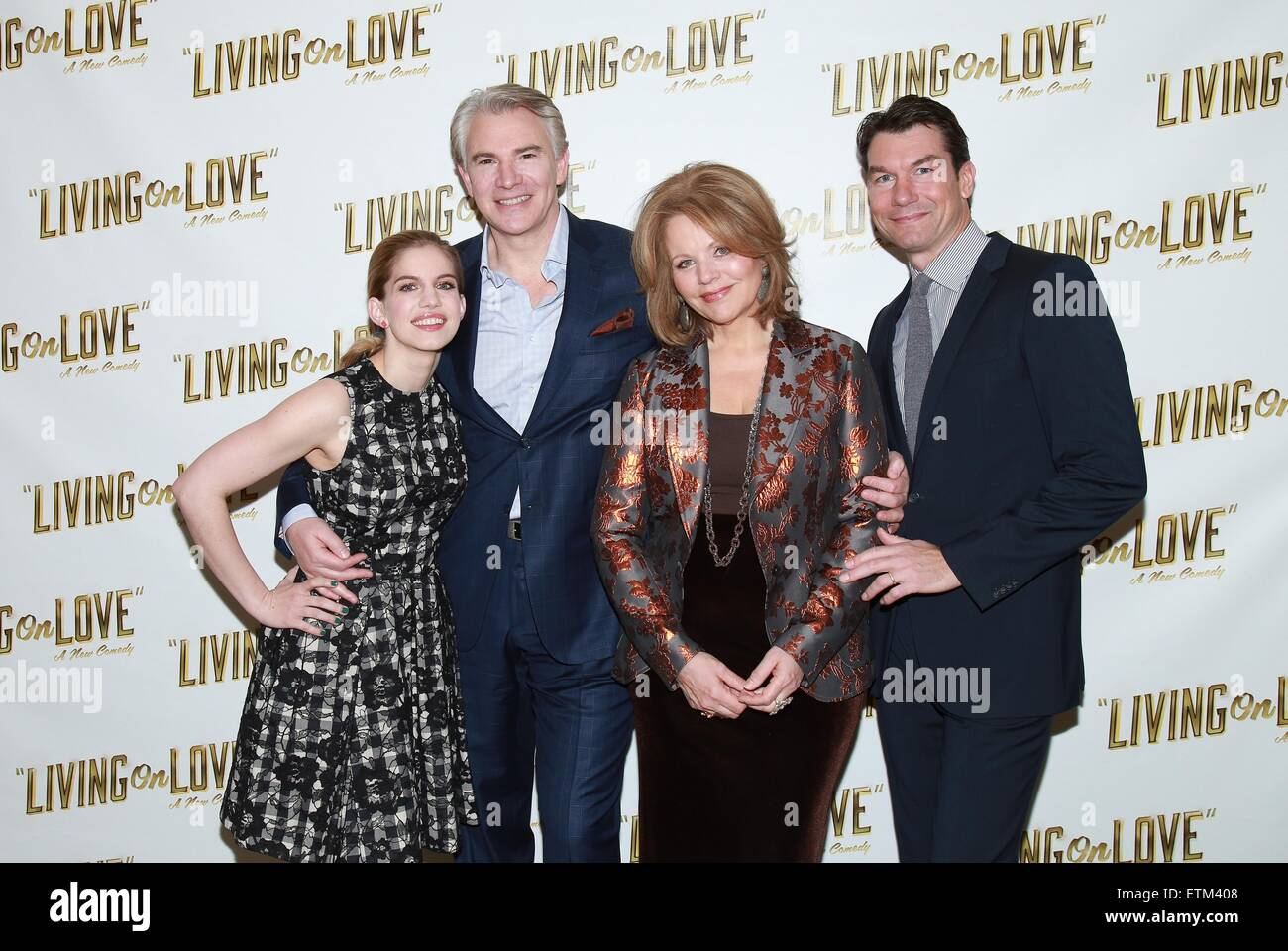 Press junket for Broadway play Living On Love held at the Empire Hotel.  Featuring: Anna Chlumsky, Douglas Sills, - Stock Image