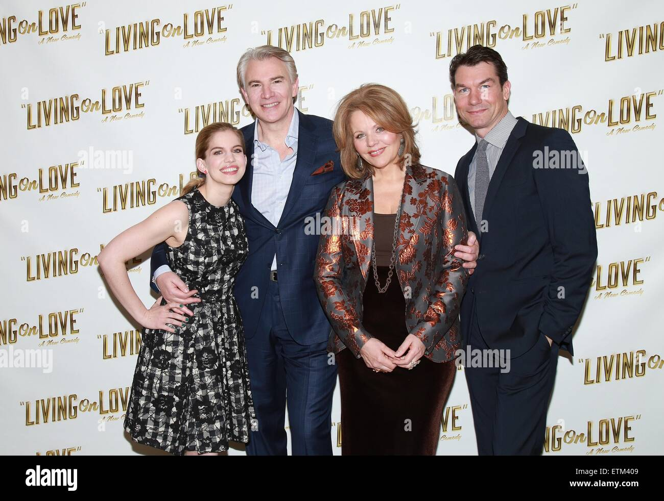 Press junket for Broadway play Living On Love held at the Empire Hotel.  Featuring: Anna Chlumsky, Douglas Sills, Stock Photo
