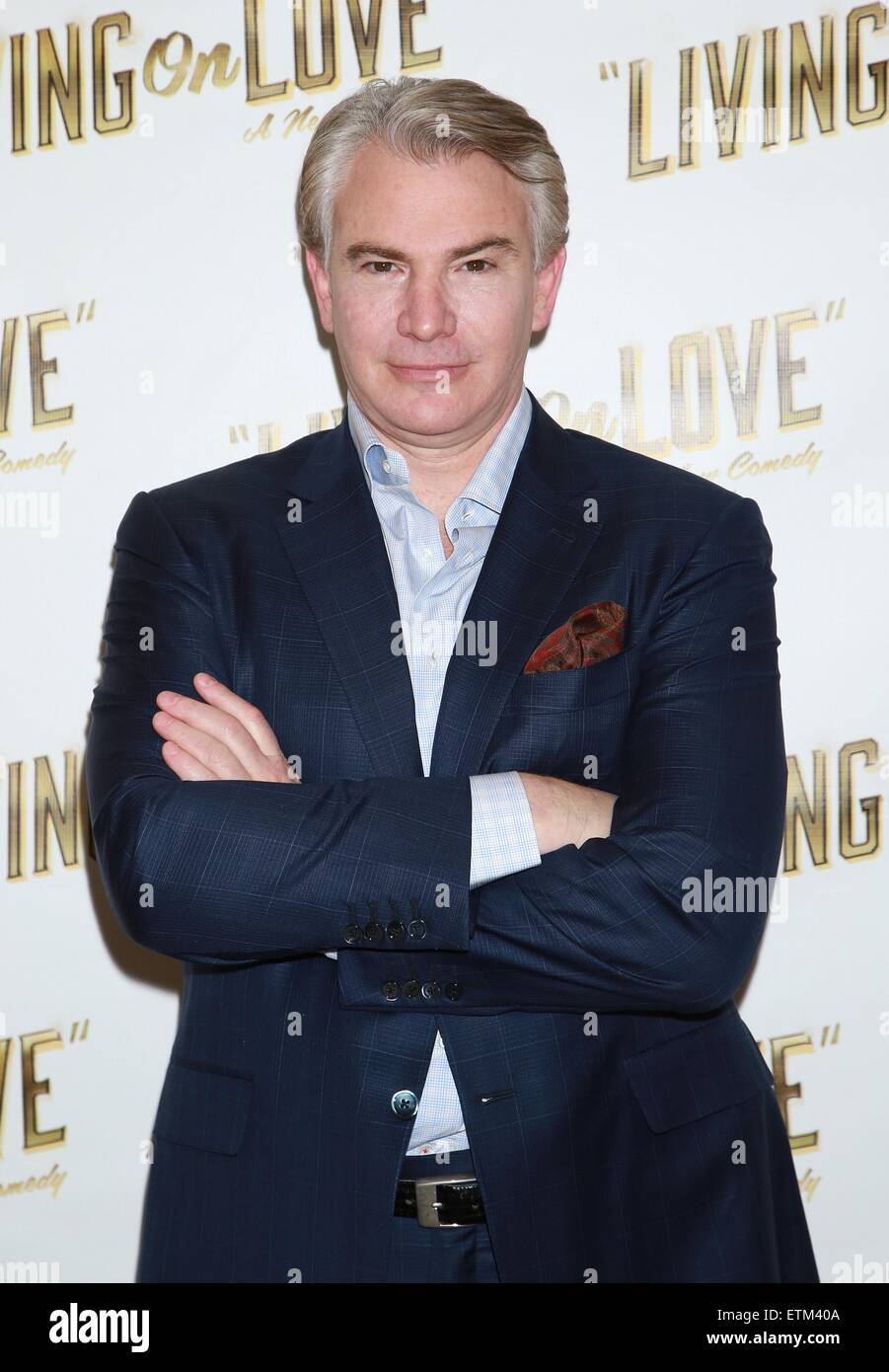 Press junket for Broadway play Living On Love held at the Empire Hotel.  Featuring: Douglas Sills Where: New York Stock Photo